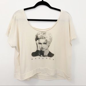 Madonna Queen Of Pop Graphic Cropped Graphic Tee